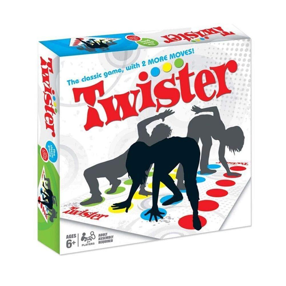 SECARIER Twister Kinderspiel, Twister Spielmatte Bodenmatte Familienspiel, Partyspiel, lustiges Spiel Geschicklichkeitsspiel fü r Kinder & Erwachsene