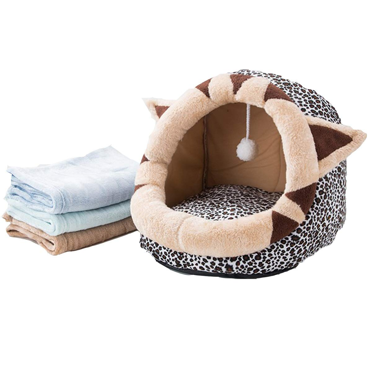 BlackWhite L BlackWhite L Cat Litter, Four Seasons Universal Closed Summer Cat House, Kennel, Cat Mat Washable, Summer Pet Supplies, Three-dimensional Pet Nest, Sleep And Play One Fun Pet Nest, With Towels 2 Optional
