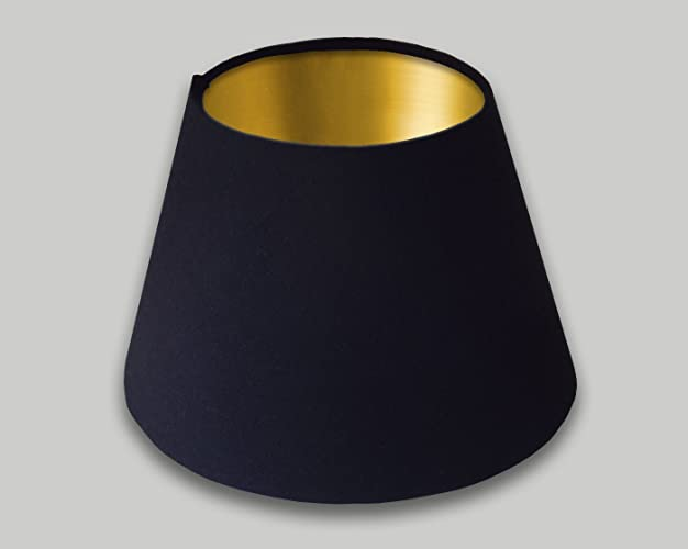 Black empire lampshade brushed gold inner 25cm 30cm 35cm 40cm 50cm black empire lampshade brushed gold inner 25cm 30cm 35cm 40cm 50cm 60cm 70cm tapered cone conical mozeypictures Choice Image