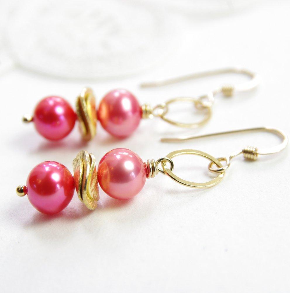 Freshwater Pearl Earrings Tropical Jewelry