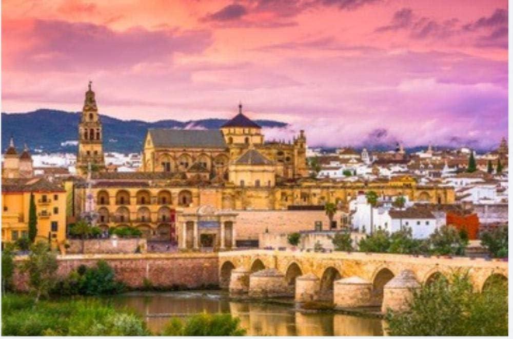 ZZXSY Puzzle 1000 Piezas Educa Córdoba España En La Mezquita-Catedral Y Puente Romano Adecuado para La Decoración del Hogar.: Amazon.es: Hogar