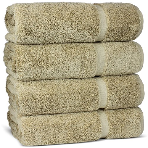 Luxury Premium long-stable Hotel & Spa Turkish Cotton 4-Piece Eco-Friendly Bath Towel Set (Driftwood) by Chakir Turkish Linens (Image #3)