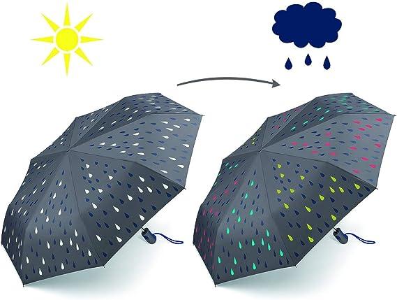 Esprit Parapluie avec Fonction Automatique Waterreactive Changement de Couleur en Cas dhumidit/é
