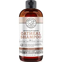 Natural Oatmeal Dog-Shampoo and Conditioner - Medicated Clinical Vet Formula Wash for All Pets…
