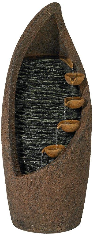 "John Timberland Modern Cascade 34 1/2"" High LED Fountain"