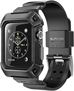 Apple Watch 2 Case, SUPCASE [Unicorn Beetle Pro] Rugged Protective Case with Strap Bands for Apple Watch Series 2 2016 Edition [42mm, Compatible with Apple Watch 42 mm First Generation 2015] (Black)