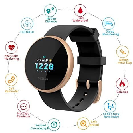Omegaes Smart Watch, Fitness Tracker Monitor de Ritmo Cardíaco ...