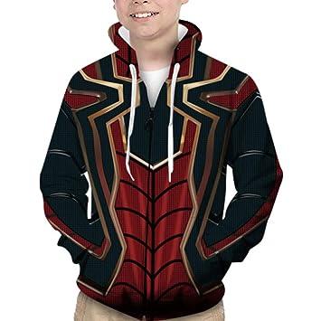 Kids Boys Long Sleeve Hoodie Pullover Jacket Coat Tops Hooded Sweatshirt Sweater