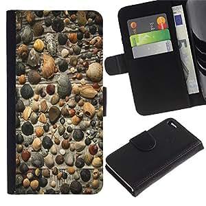Be Good Phone Accessory // Caso del tirón Billetera de Cuero Titular de la tarjeta Carcasa Funda de Protección para Apple Iphone 4 / 4S // gazeta fon rakushki galka