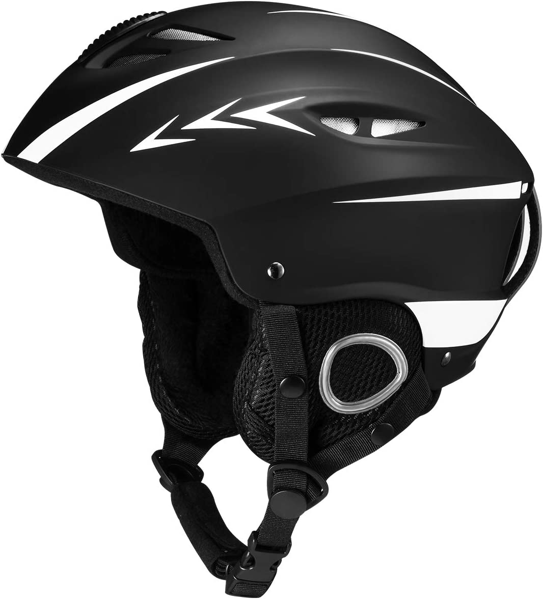 OMORC Ski Helmet,Snowboard Helmet Snow Sports Helmet with ASTM Certified Safety,Removable Inner Padding Ear Pad Ski Helmet for All Season,Airflow Climate Control Adjustable Fit for Men,Women,L XL