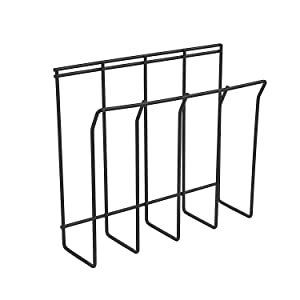Spectrum Diversified Magazine Rack, Wall Mount, Black