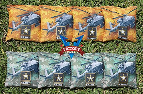 Victory Tailgate Custom Army Apache Cornhole Bag Set (all Weather) by Victory Tailgate