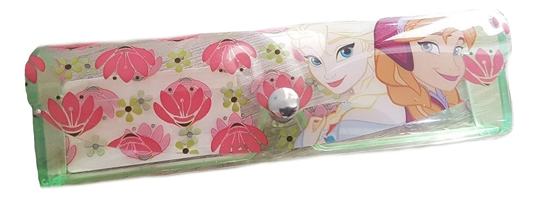 PICCOLI MONELLI Custodia Porta Occhiali Bambina di Frozen Elsa Giallo in plastica Rigida 15 x 4 cm