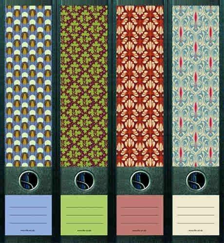 File Art - Diseño Pegatinas para 12 Grandes + 12 fino A4 Archivos - tema