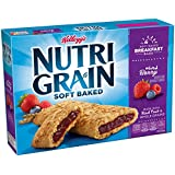 Kellogg's Nutri-Grain Cereal Breakfast Bars, Mixed Berry, 8 Count Box (Pack of 6)