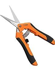 VIVOSUN Gardening Hand Pruner Pruning Shear with Straight Stainless Steel Blades Orange