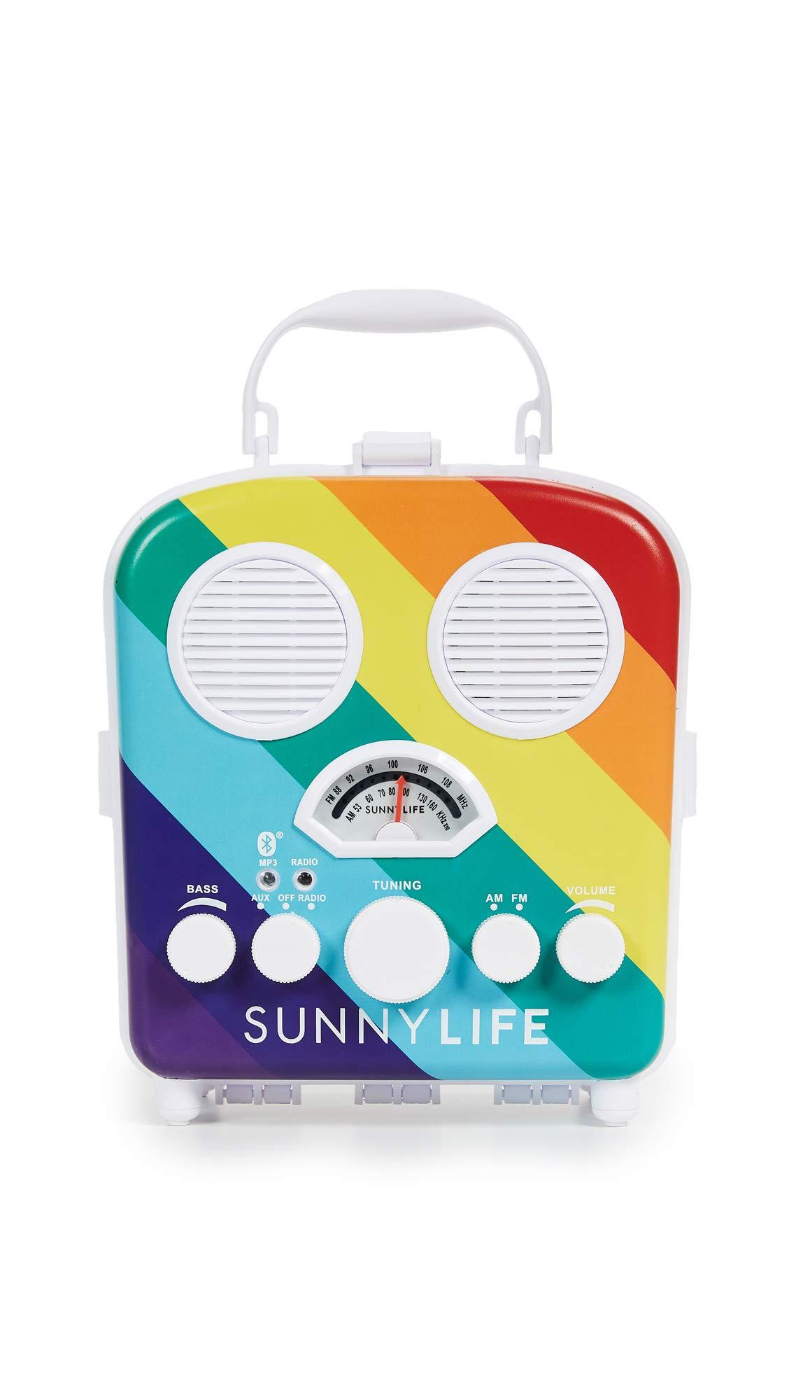 SunnyLife Beach Sounds Speaker, Rainbow, One Size