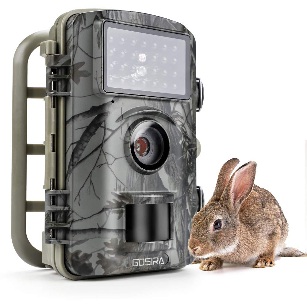 Gosira Trail Game Camera Fastest 0.4S Trigger 1080P HD Night Vision Latest 940nm Low Flash Infrared LED Deer Hunting 12MP IP66 Waterproof Wildlife Animal Monitor Viewer Cam Outdoor Motion Activated SCNEW-08351