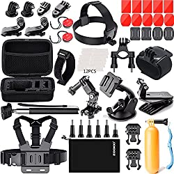 Zookki Accessories Kit For Gopro 6 Hero 5 Session 4 Silver 3 Black Sj4000sj5000sj5000xsj6 Legendsj7 Sports Camera Accessories Set For Xiaomi Yi 4klightdowdbpowerdovob