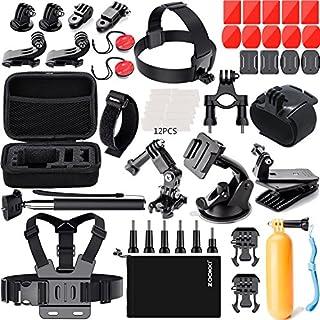 ZOOKKI 41-in-1 Action Camera Accessories Kit for GoPro Hero 7 6 5 4 3+ 3, Black/Silver/Session/SJ4000/SJ5000/SJ6000 for DBPOWER AKASO VicTsing WiMiUS Rollei QUMOX Lightdow CamparK Sony Sports DV