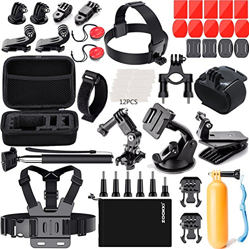 ZOOKKI 41-in-1 Action Camera Accessories Kit for GoPro Hero Black Silver Session7 6 5 4 3+ 3 SJ4000 5000 6000 for DBPOWER AKASO VicTsing WiMiUS Rollei QUMOX Lightdow Campark and Sony Sports DV