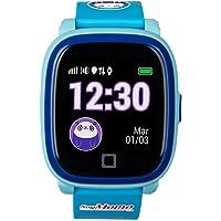 SoyMomo H2O - Reloj con GPS para niños - Reloj teléfono para niños - Smartwatch niños GPS Resistente al Agua IP67 (Azul)