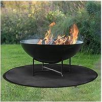 Thicken Fire Pit Mat ,Alfombrilla Redonda para Fogata Resistente al Calor, Protector de…