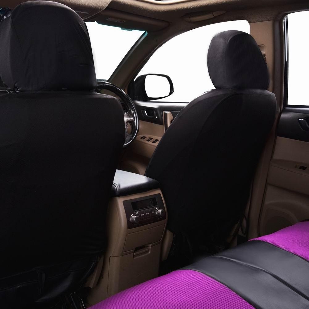 Flying Banner Burgund Pu Leder Und Mesh Erm/öglicht Universelle Auto Sitzbez/üge Sets Sit Airbag Kompatibel