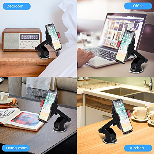10W Wireless Car Charger, Detuosi Car Wireless Charger Car Phone Mount, Fast Charge for Samsung Galaxy S9/S8 plus/S8/S7/S6 Note 8/5, Standard Charge for iPhone X/8/8 Plus and all Qi Enabled Phones by DBNICE (Image #5)