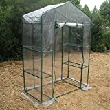 Zerodis Greenhouse Tent, Portable PVC Plant Green House Mini Warm Flower Plants Household Clear Waterproof Plant Cover for Outdoor and Indoor Gardening Planting(143 x 73 x 195cm)