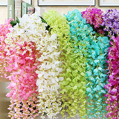 12-Pack-36-FeetPiece-Artificial-Fake-Wisteria-Vine-Ratta-Hanging-Garland-Silk-Flowers-String-Home-Party-Wedding-Decor