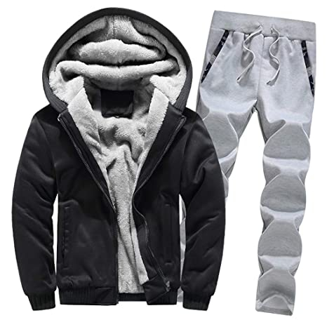 Lower Price with Casual Men Set Hoodie Tracksuit Mens Sportswear Sweat Suit Male 2 Piece Hooded Jacket Pants Sets Man Fitness Clothing 2019 Home