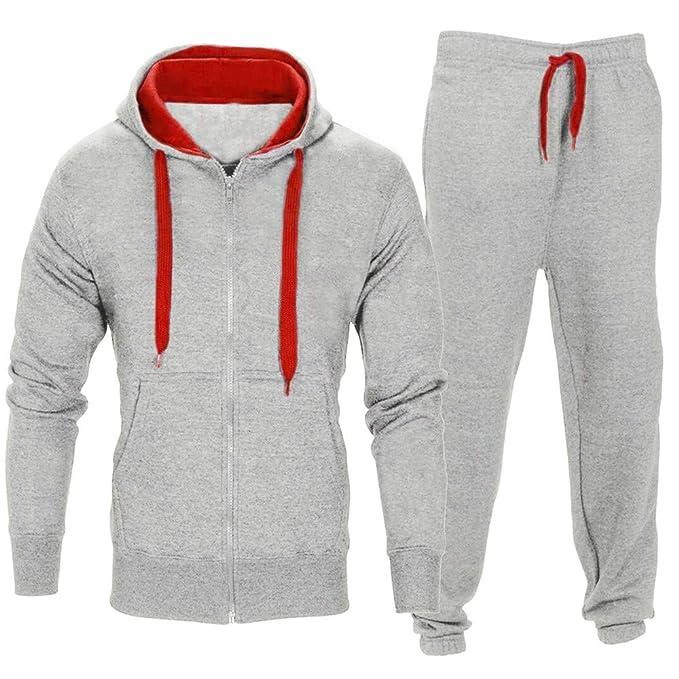 Bestow Conjunto de Sudadera con para Hombre Chaqueta de suéter con Capucha de Invierno para Hombre Abrigo de Hombre suéter Chaleco: Amazon.es: Ropa y ...