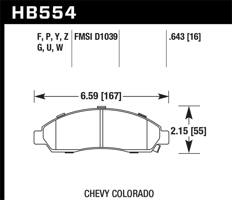 Hawk Performance HB554G.643 Disc Brake Pad