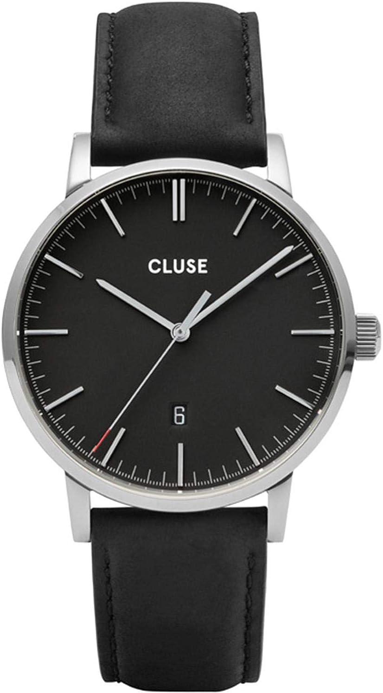 Cluse Aravis Reloj de Hombre Cuarzo 40mm Correa de Cuero CW0101501001......