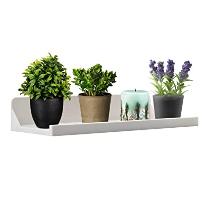 "OKOMATCH Window Sill Shelf-Window Organizer Rack Hanger Two Powerful Adhesive Stickers Installation-Hold Up to 15lbs-12.4""x5.7""x2.3""-Good for Plants/Flowers/Herb Pots/Seed Starter-White: Home & Kitchen"