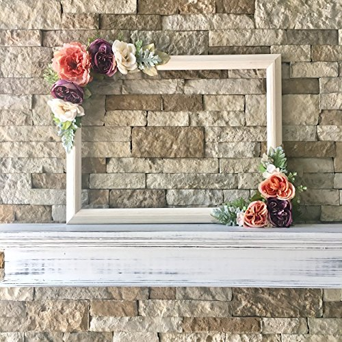 Floral Selfie Frame, Flower Photo Prop Frame, 18''x24'', Variety Flower Colors by VivasFlowerShop