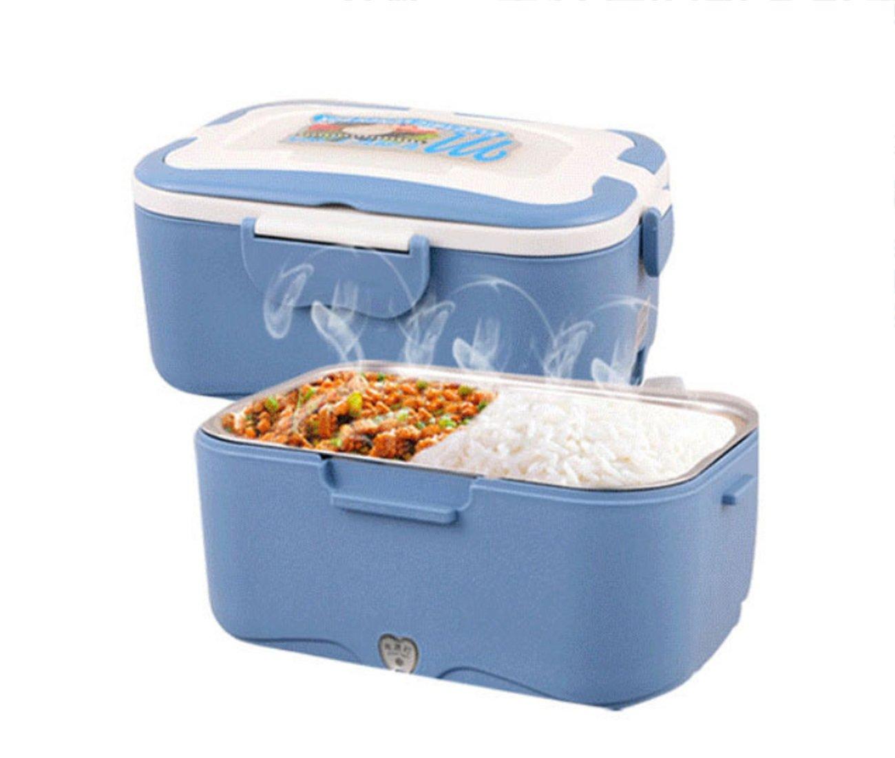 Auto Mini Elettrico Hot Lunch Box Elettronico Lunch Box Plug-in Riscaldamento Isolamento Hot Food Perfetto Ufficio Dormitorio Viaggio 1.5L Per 12V Auto / 24V Camion 35W- 233X166X11.6MM Huaishu