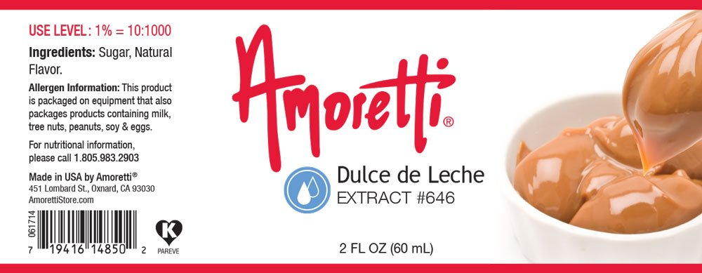 Amazon.com : Amoretti Dulce de Leche Extract, 2 Ounce : Grocery & Gourmet Food