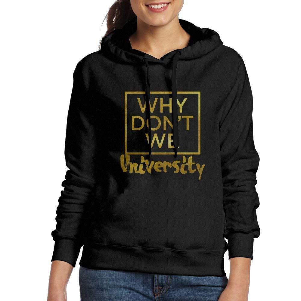 bikini bags Why Don't We Logo Woman's Sweatshirt Pocket Hoodie Black Large