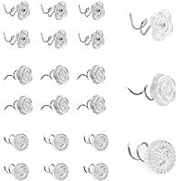 Zliger 150 Pieza Twist Pins Pasadores Giro Cabezas Transparentes Duradero Clavos de Tapicería Tachuelas de Muebles para…