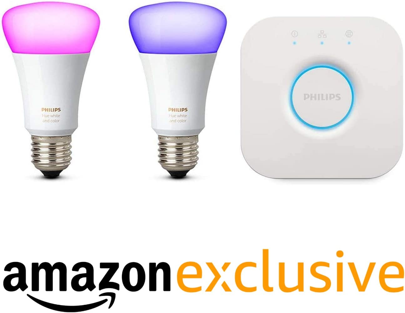 Philips Hue White and Color Ambiance Pack de 3 Bombillas LED inteligentes E27, puente de conexión y 2 Smart Buttons + Philips Hue - Sensor de movimiento controlable vía WiFi: Amazon.es: Iluminación