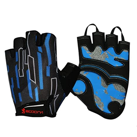 15f9e472d5b6 Amazon.com   Cycling Gloves Half Finger Shock-absorbing Pad ...