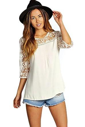 4 paneleed sleeves blouse ZmtX5