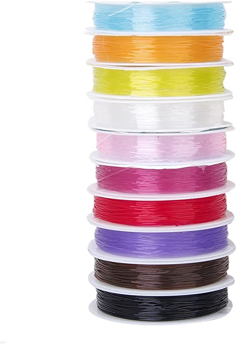 ND/_ ELASTIC STRETCHY BEADING THREAD CORD BRACELET STRING FOR JEWELRY MAKING GR