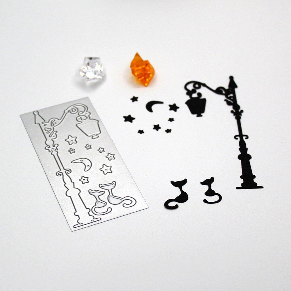 Ruby569y color plateado papel decorativo para manualidades tarjetas de felicitaci/ón Troqueles de corte de metal l/ámpara de calle /álbumes de recortes troquelado de bricolaje