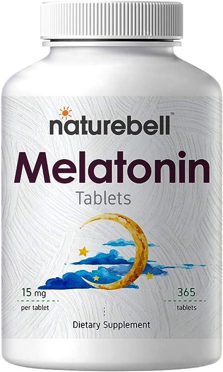 NatureBell Advanced Melatonin 15 mg, 365 Tablets.