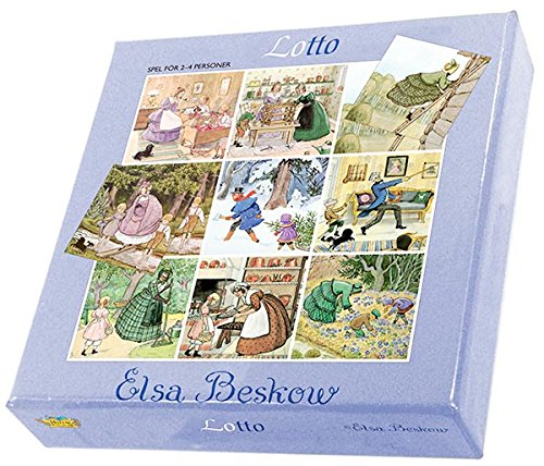 Colorful Elsa Beskow Lotto Game (4 Cards - 36 (Lotto Memory Game)