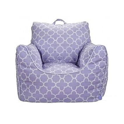 Superbe Lavender Purple Bean Bag Chair With Removable Cover