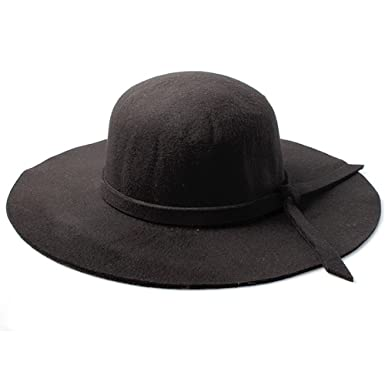 Accessoryo Women s Black Floppy Fedora Hat with Knotted Band Detail ... c5b5951f5f8e